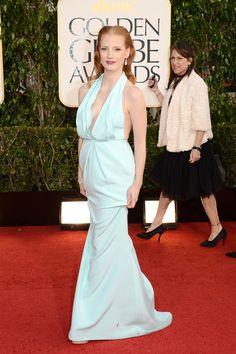 Jessica Chastain in Calvin Klein Collection - Golden Globe Awards 2013