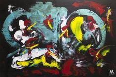 Original Abstract Painting by Alexis Reynaud Abstract Styles, Abstract Art, Original Art, Original Paintings, Musashi, Kendo, Acrylic Material, Katana, Martial Arts