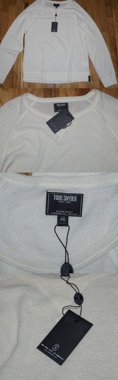 Sweaters 11484: Nwt Todd Snyder New York Ivory White 100% Wool Sweater Size 2Xl Msrp$158 -> BUY IT NOW ONLY: $50 on eBay!