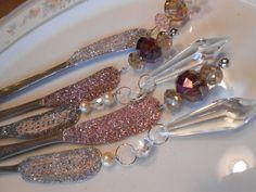 Silverware Christmas Ornaments Vintage Silver by tawnystreasures
