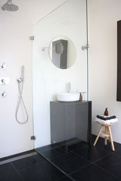 Very minimalist bathroom.
