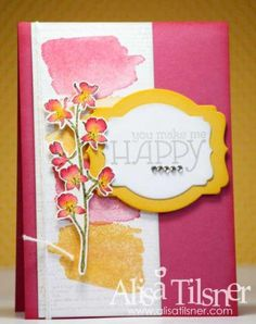 Happy Watercolor by AlisaZoe - Cards and Paper Crafts at Splitcoaststampers