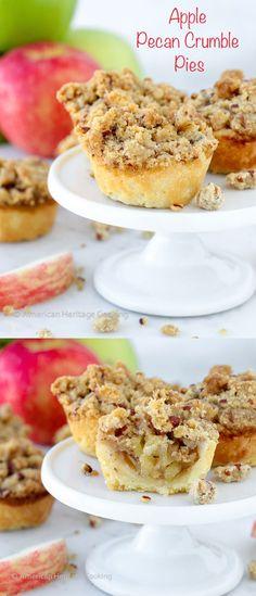Mini Apple Pecan Crumble Pies - American Heritage Cooking
