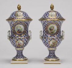 Dresden Porcelain Urns