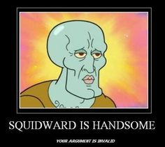 Handsome Squidward - funny pictures - funny photos - funny images - funny pics - funny quotes - #lol #humor #funny