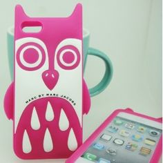 Fashion Marc Jacobs Silicone iPhone 5/5S Case - Pink Owl