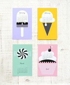 "Free Printable ""Sweet New Year"" Calendar 2013 » Eat Drink Chic"