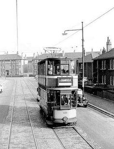 RUCHILL Bilsland Drive looking towards Hayston Street (Ruchill)1961 Glasgow Scotland, Scotland Travel, Glasgow City, The Second City, West End, Public Transport, Coaches, Old Photos, Trains