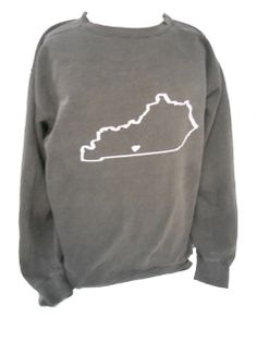 Comfort Colors Crewneck Sweatshirt with State Outline - Gonegreek YES YES YES