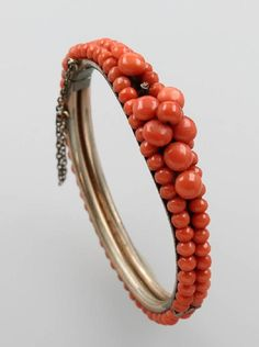 Bangle with coral, german approx. 1880/90