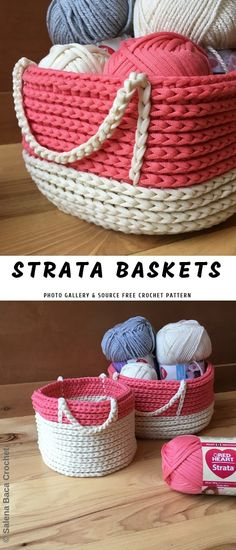 crochet purses patterns Crochet Containers or Baskets to Store Crochet Purse Patterns, Crochet Basket Pattern, Knit Basket, Doily Patterns, Diy Crochet Basket, Basket Weaving, Crochet Shell Stitch, Knit Or Crochet, Crochet Stitches