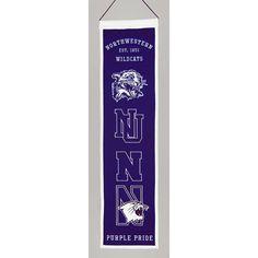"Northwestern Wildcats Ncaa ""heritage"" Banner (8""x32"")"