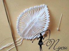 crochet leaf tutorial by qingqing