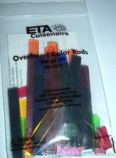 Cuisenaire Overhead Projector Rods No. 20290 - Set of 60
