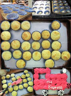 How to make a #train cake out of #cupcakes.