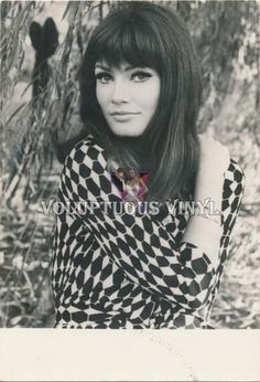Marisa Mell unsigned autograph card Angelo Frontoni
