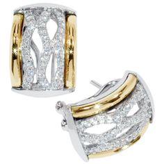 cc5f06c78957 Aretes en plata rodinada con laminas de oro de 18 k