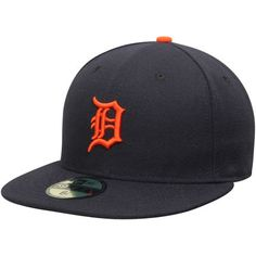 f24a1fb4e72 Men s New Era Navy Detroit Tigers AC On-Field 59FIFTY Road Performance  Fitted Hat