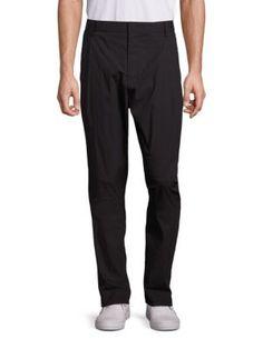 ALEXANDER WANG Monochrome Wool Blend Trousers. #alexanderwang #cloth #trousers