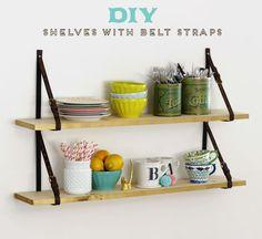 belt strap shelves