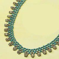 Openwork beaded necklace Russian drops