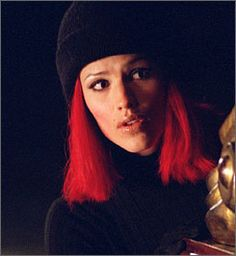 """Remember when? This fire-red wig was one of Sydney's (Jennifer Garner) first disguises on """"Alias."""" Series is out now on Netflix!"""