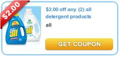 2.00 off any (2) all detergent products