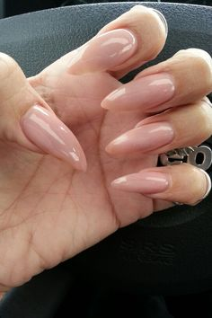 Nude stiletto nails!  ♥ these