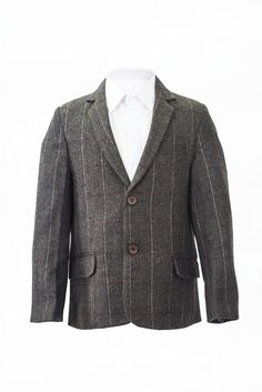 Tweed boys check jacket blazer for occasion wear
