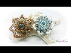 Beading tutorial. come creare un pendente Dryope con daghe, superduo swarovski - YouTube