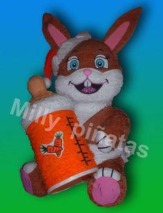 Piñata conejo, granja, Milly Piñatas exclusivas