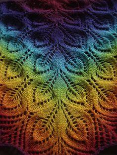 """Freie Anleitung für das Tuch """"Gail (aka Nightsongs)"""" von Jane Araújo auf ravelry.com"""
