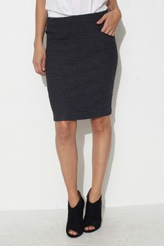 Search Antra Fitted Skirt by Humanoid | shopheist.com