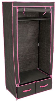 Double Storage Wardrobe Ziiped Doors Black Pink Canvas Clothes Garment Rail New   http://www.ebay.co.uk/itm/Double-Storage-Wardrobe-Ziiped-Doors-Black-Pink-Canvas-Clothes-Garment-Rail-New-/131914992135?hash=item1eb6bf0a07:g:fdcAAOSwV0RXuJR7