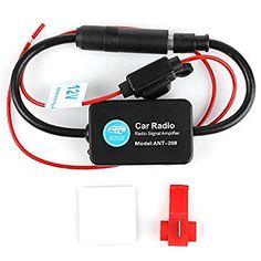 Universal Car FM Radio Aerial Antenna Signal Amplifier Booster