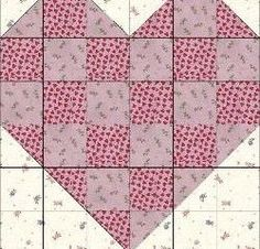 Great heart block or heart quilt… could use smaller squares and make 4 or 6 hearts in a quilt, or use really big blocks and make a single big heart lap quilt is creative inspiration for us. Get more photo about home decor related with by looking at photos gallery …