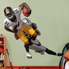 Antonio Brown Takes It On REAL.BIG. Fathead Wall Decal | Pittsburgh Steelers Wall Decal