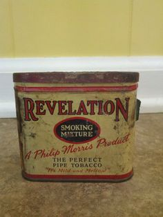Pipe Tobacco Tin, Revelation