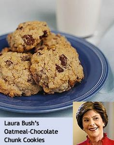 Bush - Oatmeal-Chocolate Chunk Cookies. These are my go-to cookies ...