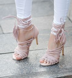 Pink Strappy Sandals Streetstyle