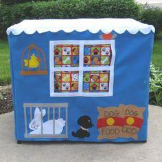 pet shop card table tent
