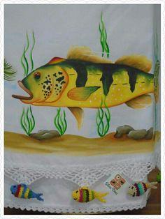 Tucunaré...peixe de água doce.