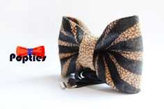 FASCICLE  Leather BOW TIE  hand painted by Popties on Etsy