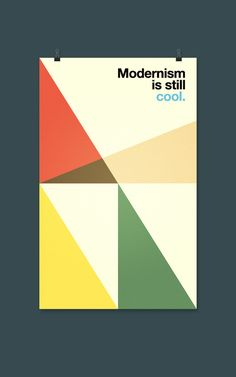 Modernism is still cool. - [POSTER] by Andrea Mastroluca, via Behance