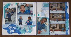 Snow layout by Gail Owens using Kiwi Lane Designs templates and Doodlebug paper.