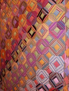 Boulder fabric with square in the middle Plaid Quilt, Striped Quilt, Striped Fabrics, Quilting 101, Quilting Tutorials, Quilting Designs, Colorful Quilts, Bright Quilts, String Quilts