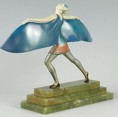 art deco sculpture by Ferdinand Preiss.  Beautiful!.  I only wish I could see the front.