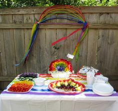 Rainbow Birthday Party - everything from invites to food to favors to activities...all rainbow!!