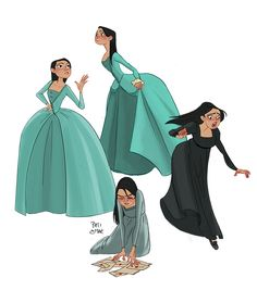 Some Elizas. - Hamilton artwork by Pati Cmak