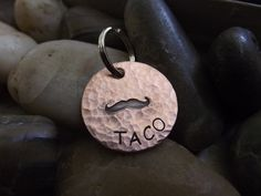 Mustache Pet tag or Keychain by patsdesign on Etsy, $15.00